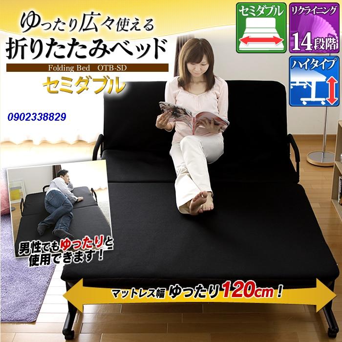 giường gấp nhật bản nhập khẩu rộng 1,2m