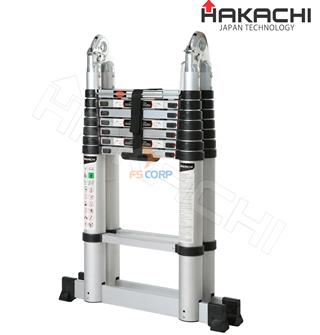 Thang nhôm rút chữ A Hakachi HM-16