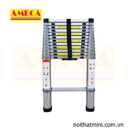 Thang nhôm xếp đơn đai nhôm AMC- 380D